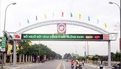 Bảng LED ma trận hay gặp ở các cổng chào