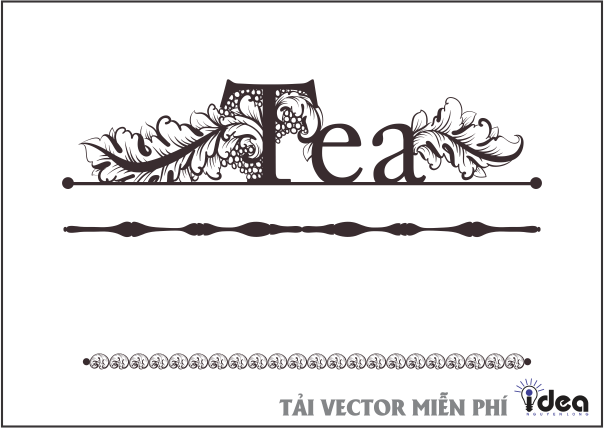 vector tea