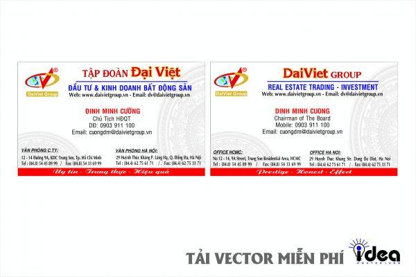 Vector Name Card Công Ty Đại Việt
