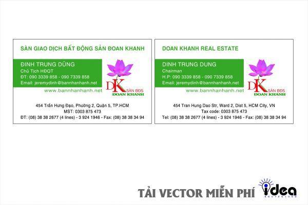 Vector Name Card Công Ty Đoàn Khánh