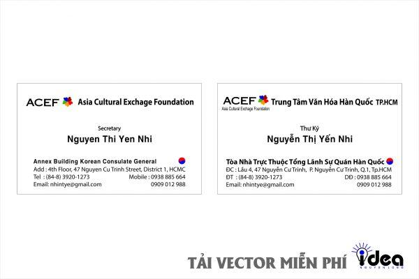 Vector Name Card Công Ty ACEF
