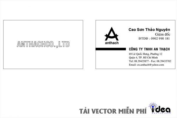 Vector Name Card Công Ty An Thạch