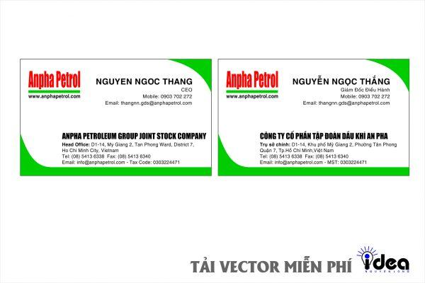 Vector Name Card Công Ty Anpha