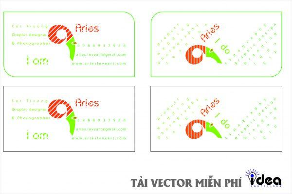 Vector Name Card Công Ty Aries