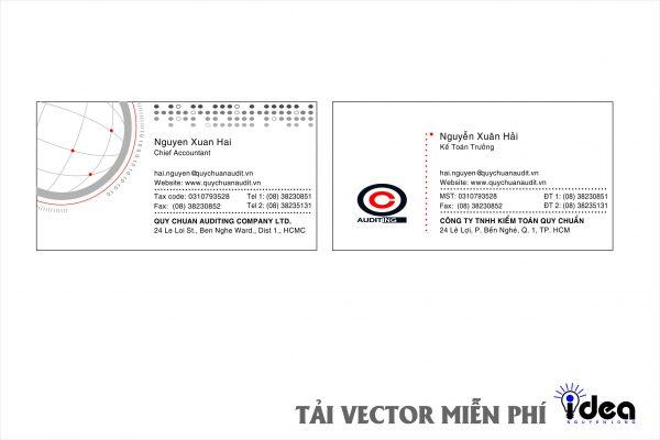 Vector Name Card Công Ty Auditing