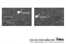 Vector Name Card Công Ty Cây Đàn