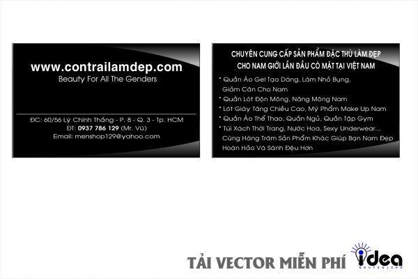 Vector Name Card Công Ty Con Trai
