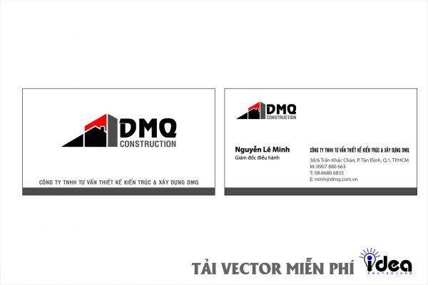 Vector Name Card Công Ty DMQ