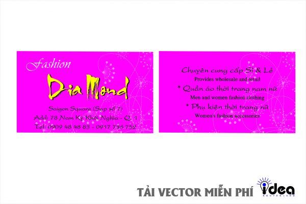 Vector Name Card Công Ty Diamon