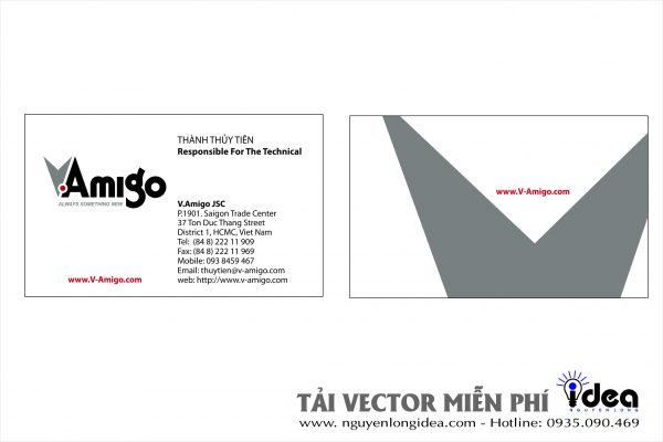Vector Name Card Công Ty VAMIGO