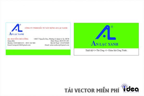 Vector Name Card Công Ty a