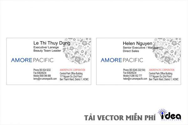 Vector Name Card Công Ty amore