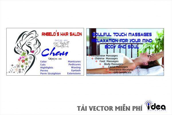 Vector Name Card Nail Châu