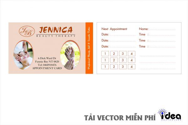 Vector Name Card Nail Jennica