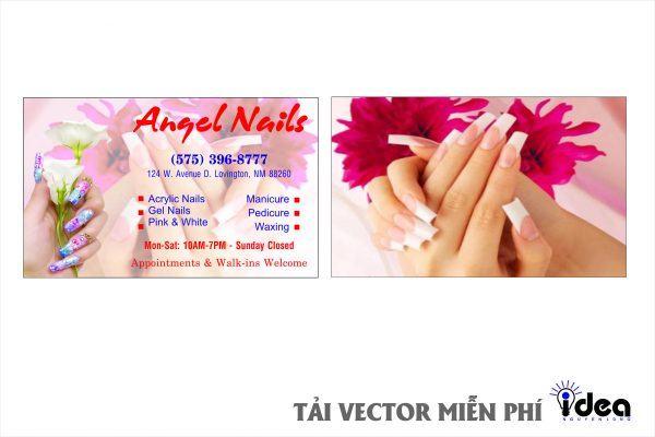 Vector Name Card Nail angel