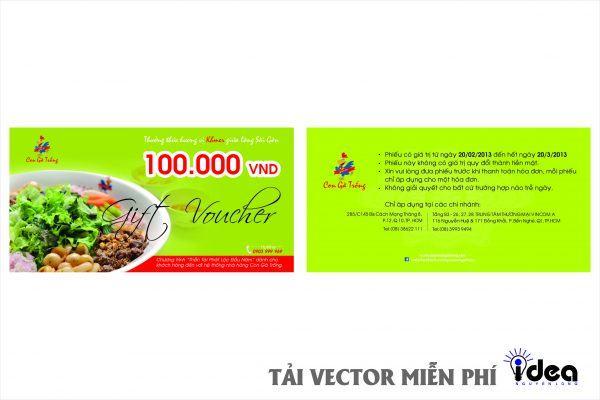 Vector Name Card Nhà Hàng