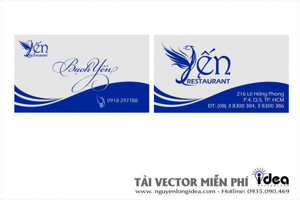 Vector Name Card Nhà Hàng Yến