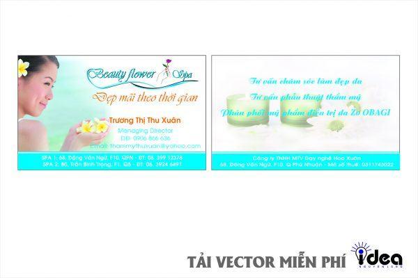 Vector name card SPA
