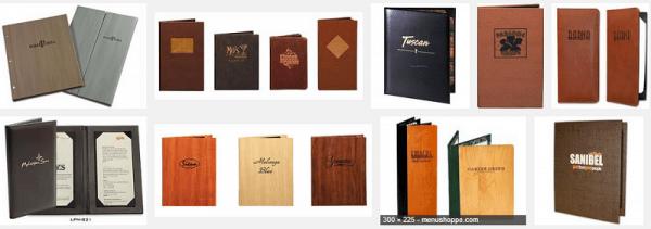 Bìa menu da các loại