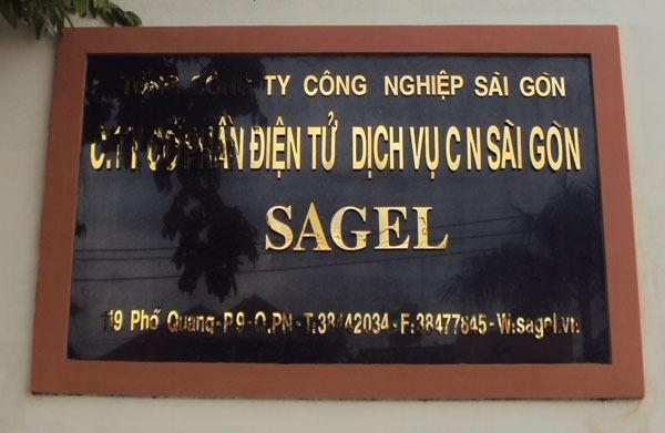 Làm bảng hiệu Inox SAGEL