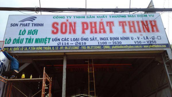 làm bảng hiệu tole Sơn Phát Thịnh