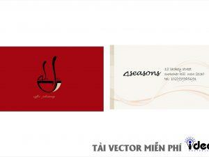 name card vector 4 seasons