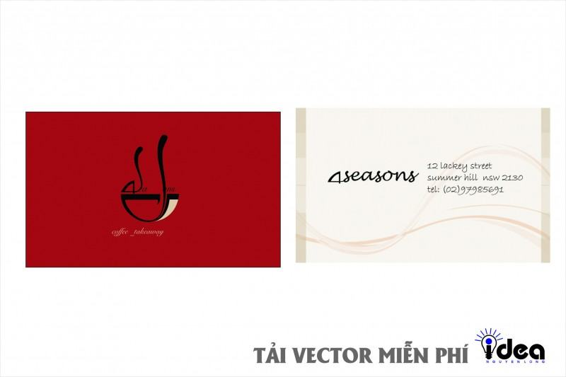 name card vector 4 seasons