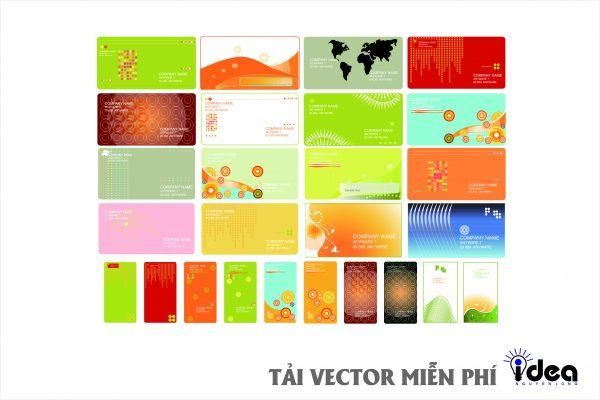 name card vector