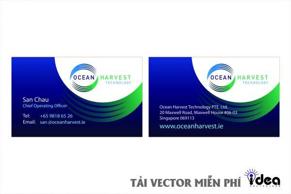 name card vector ocean