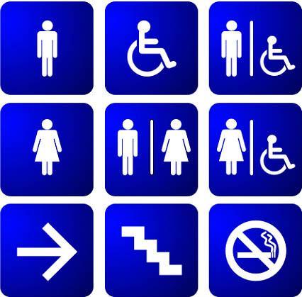 Bảng hiệu Toilet , WC (2)
