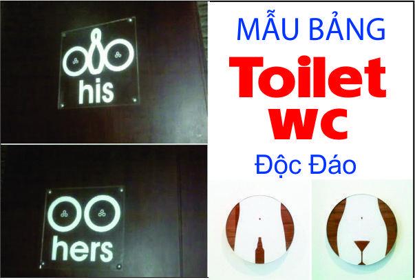 Bảng hiệu Toilet , WC