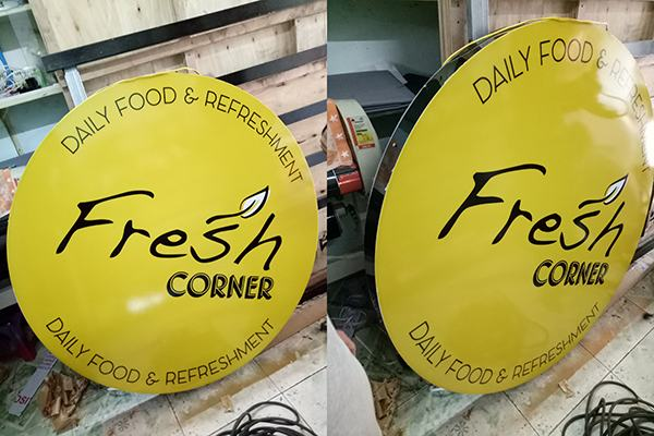 Hộp đèn tròn mặt lồi Fresh Corner