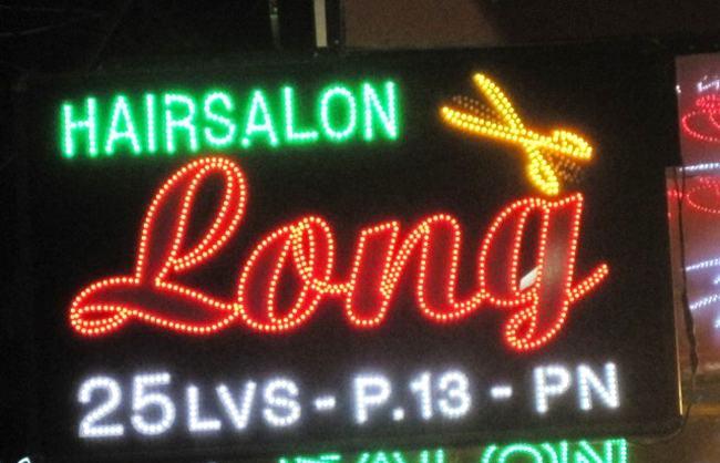 Bảng đèn led cho salon tóc đẹp