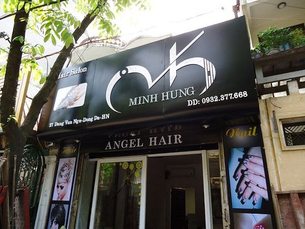 Bảng hiệu salon tóc chữ nổi