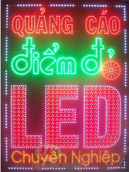 Mẫu biển hiệu quảng cáo đèn led hcm