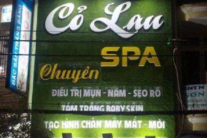 Mẫu bảng hiệu quảng cáo spa tạo ấn tượng cực tốt với khách hàng