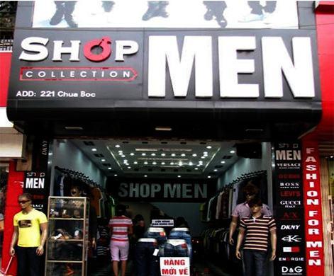 Bảng hiệu shop thời trang nam