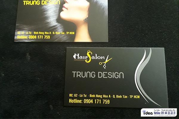 Làm name card cho salon tóc