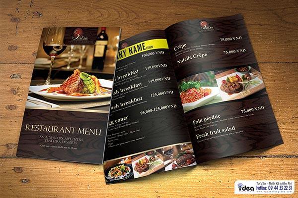 Thiết kế in ấn catalogue cho nhà hàng