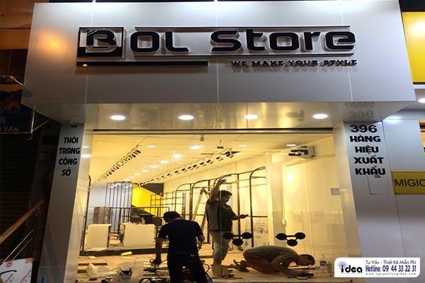 Thi công shop thời trang nhanh giá rẻ quận tân phú