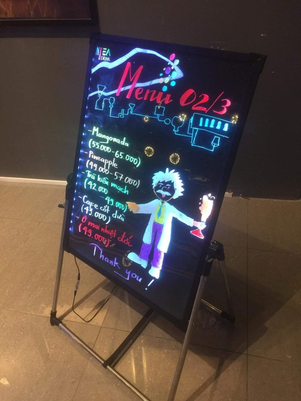 Bảng huỳnh quang-bảng led viết tay giá rẻ ở sài gòn