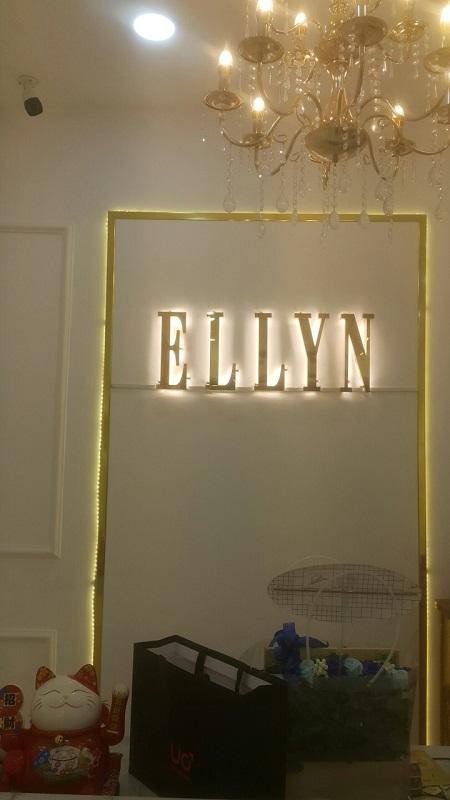 bảng hiệu alu đèn led chữ nổi inox