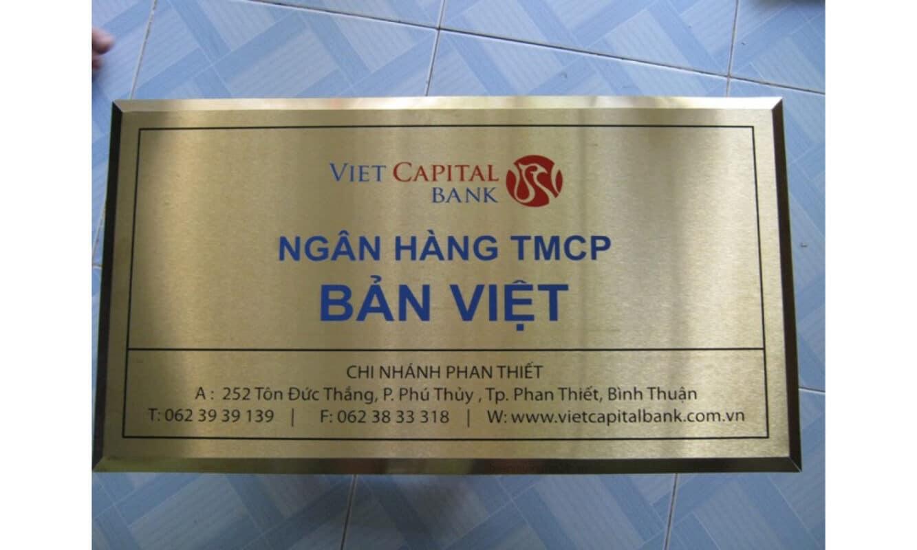 Bảng tên công ty ngân hàng